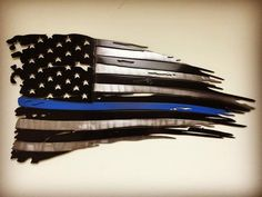 Blue Line Weathered Old Glory / 2 footer / Painted
