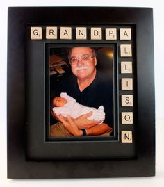 Finished Scrabble Picture Frame
