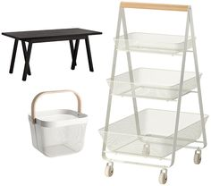 love the new RISATORP kitchen cart at ikea (available february 2015) — would be great in the art studio