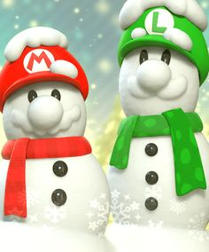 Mario and Luigi Snowmen bros Mario Und Luigi, Super Mario And Luigi, Super Mario Art, Super Mario World, Super Mario Brothers, Mario Bros., Metroid, Super Mario Kunst, Nintendo Game