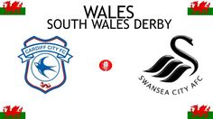 1912, Wales (1st SOUTH WALES DERBY), Cardiff City < > Swansea City #CardiffCity #SwanseaCity #Wales (L7906) Cardiff City, Sports Logos, Football Match, Swansea, South Wales, Derby, Logo Design