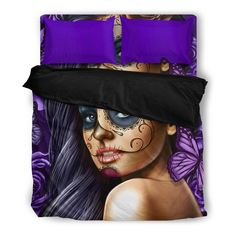 NEW - Your favourite Calavera Girl Now in a beautiful Bedding set of 1 x Duvet & 2 Pillow Cases. Don't miss out. Click 'Add to your Cart' now Note: Printed Calavera Tattoo, Beautiful Bedding Sets, Duvet Sets, Tattoo Art, Pillow Inserts, Girl Tattoos, Duvet Covers, Pillow Cases, Pillows