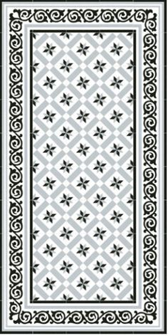 Barcelona Rose of the Winds Gray -visual n ° 2 Tiled Hallway, Hallway Flooring, Victorian Pattern, Victorian Tiles, Best Flooring, Stone Flooring, Floor Patterns, Tile Patterns, Deco Baroque