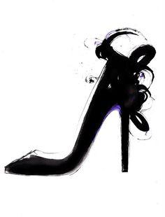 Shoe Sketch - arty fashion illustration // Kornelia Debosz