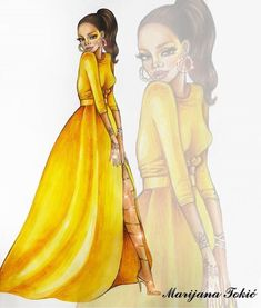 Rihanna @ilustradoresdemoda #FashionIllustrations |Be Inspirational ❥|Mz. Manerz: Being well dressed is a beautiful form of confidence, happiness & politeness