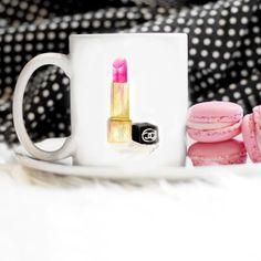 Rouge à lèvres Mug, tasse de Chanel, maquillage Mug, tasse, Pâques