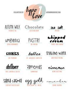 Free Typo Love Fonts