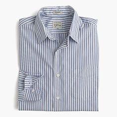 Secret Wash shirt in blue stripe