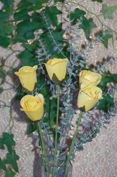 Half blooming yellow wooden roses definitely say that the sender is keen on friendship alone. Wooden Roses, Everlasting Love, Bloom, Yellow, Create, Plants, Plant, Planets