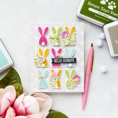 Simon Says Stamp Blog Hop - Action Wobble Happy Easter card by Yana Smakula