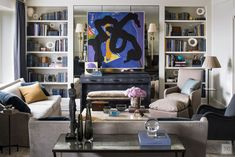 From the Portfolio of Tammy Connor Interior Design.  love use of mirrors in small space