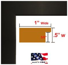 Custom Made to Order Wrapped Black Picture Poster Frame Solid Wood 125 inch Wide Moulding ** You can get additional details at the image link. Picture Frames For Sale, Picture Frames Online, Picture Frame Sizes, Collage Picture Frames, Art Frames, Black Picture, Picture Photo, Wall Decor Pictures, Frame Clipart