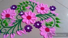 Beautiful cute rangoli design by Jyoti Raut Rangoli Easy Rangoli Designs Diwali, Rangoli Designs Flower, Free Hand Rangoli Design, Small Rangoli Design, Rangoli Border Designs, Rangoli Ideas, Colorful Rangoli Designs, Rangoli Designs Images, Flower Rangoli