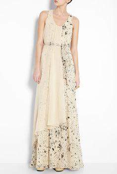Splatter Print Silk Gown by 3.1 Phillip Lim - would make a beautiful bridesmaids dress