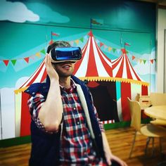 An awesome Virtual Reality pic! A good day demonstrating different #ImmersiveTechnology to a good friend.   #VirtualReality #AugmentedReality #Oculus #GearVR #Samsung #HoloLens #MixedReality #VRdev #IndieDev #VR #AR  #Technology by stejudge check us out: http://bit.ly/1KyLetq