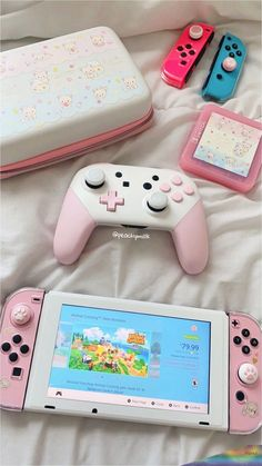my pink nintendo switch💕 – Game Room İdeas 2020 Nintendo Switch Accessories, Gaming Accessories, Console Style, Nintendo Switch Case, Kawaii Bedroom, Gaming Room Setup, Gaming Rooms, Accessoires Iphone, Game Room Design