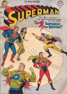 1950-08 - Superman Volume 1 - #65 - The 3 Supermen from Krypton #SupermanFan #SupermanComics #Superman #ComicBooks  #DCComics