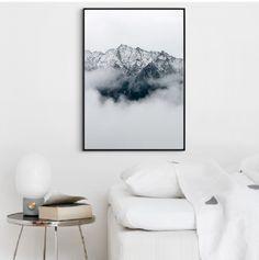 Plakat góry we mgle foto 30x40 obraz a3 góra - black-dot-studio - Wydruki cyfrowe