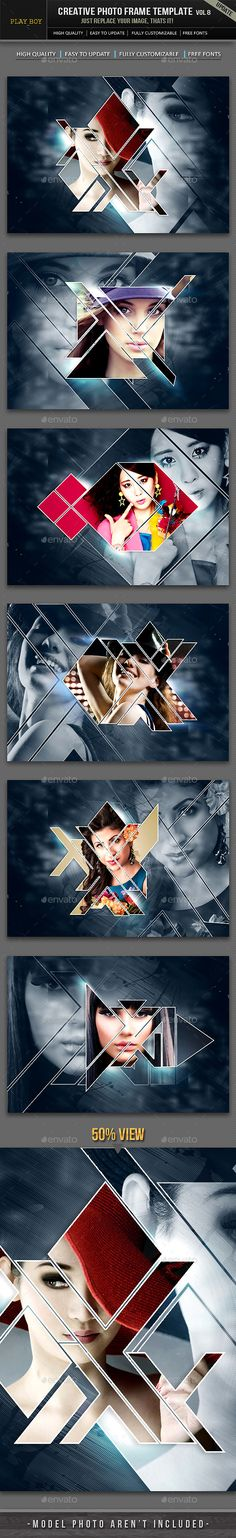 Buy Creative Photo Frame Template by midcreation on GraphicRiver. Creative Photo Frames, Creative Photos, Creative Design, Photo Mosaic, Album Cover Design, Frame Template, Creative Advertising, Photoshop Design, Graphic Design Inspiration