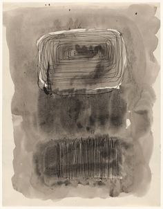"""dailyrothko: """" Mark Rothko, Untitled, 1961, Pen and ink on paper. (A new scan of this replaces our old one which was grainier and slightly coral. This shows a much smoother surface and no tint in the wash. Christopher Rothko presumably approved this..."""