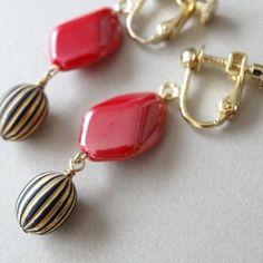 French Girl* earrings (red)