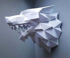 Game of Thrones Direwolf Papercraft Wall Decor