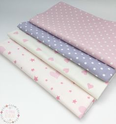 Lilymae Designs Fabrics: Nancy Rose Nancy Lavender Pink Love Hearts Love & Wishes