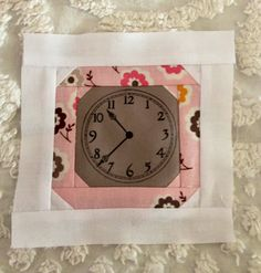 A clock block for Nanette's Daisy Cottage quilt. So cute!