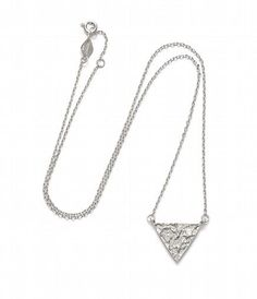 ANNI LU - 163-01-03-4 // ANNI LU // La Lune // Triangle necklace // Silver