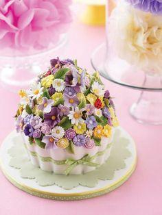 Torta flores distintivas