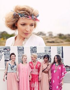 Love the hippie bridesmaids!!!