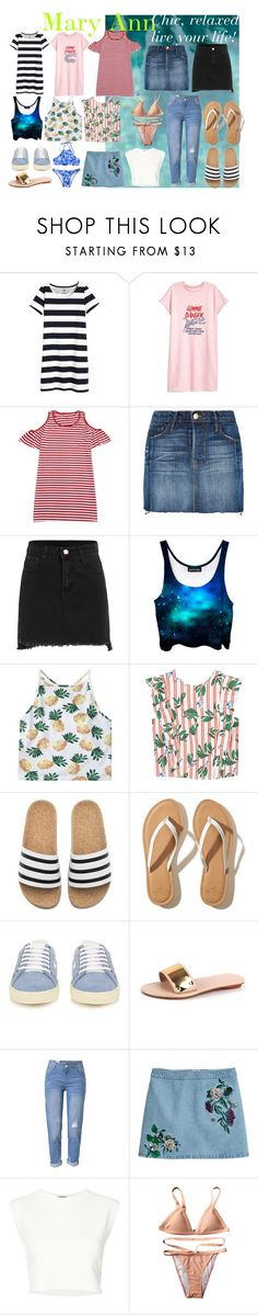 """""""Untitled #188"""" by maiaytina on Polyvore featuring Frame, MANGO, adidas, Hollister Co., Yves Saint Laurent, WithChic, H&M and Puma"""
