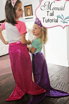 Sewing tutorials costume mermaid tails 23 New Ideas Little Mermaid Birthday, Little Mermaid Parties, The Little Mermaid, Mermaid Birthday Party Ideas, Birthday Ideas, Sewing For Kids, Diy For Kids, Fancy Dress, Dress Up