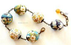 Bracelet boules liberty ajustable en jaune par LesBijouxDeMarie, €23.50