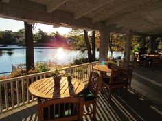 Bufflehead Cove Inn: Where we enjoyed our breakfast Maine, Outdoor Tables, Outdoor Decor, B & B, Bed And Breakfast, Great Deals, Trip Advisor, Outdoor Furniture, Travel