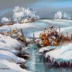 Watercolor Trees, Watercolor Landscape, Landscape Art, Landscape Paintings, Watercolor Paintings, Watercolors, Painting Snow, Winter Painting, Snow Pictures