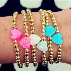 Set By Vila Veloni Multicolor hearts Bracelets Chic Style
