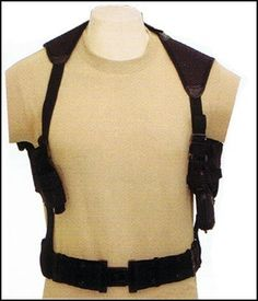 Tactical Cross Draw Shoulder Holster--BLACK by Unknown.  11.95. -Concealed  design 73437ba113fac