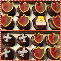 Clash of Clans Theme Cupcakes