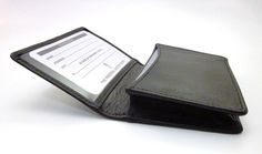 ILI BLACK LEATHER BUSINESS CARD CASE ~ LEATHER CREDIT CARD HOLDER ~ NEW IN BOX #ILI