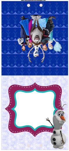 Convite Pirulito Frozen: