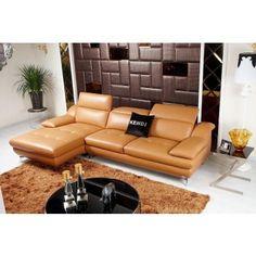 Teramo (K8392) - Modern Khaki Eco-Leather Sectional - Sectional Sofas - Living Room