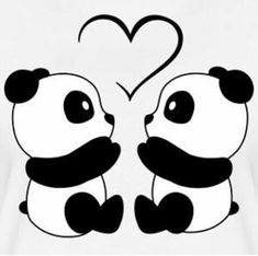 Cute Drawings: Bears, teddy bears and pandas Cute Panda Wallpaper, Cartoon Wallpaper, Panda Wallpaper Iphone, Cool Art Drawings, Kawaii Drawings, Love Drawings Couple, Heart Drawings, Cute Drawings Of Love, Wall Drawing