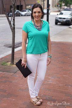 Fashion Over 40: Green + White