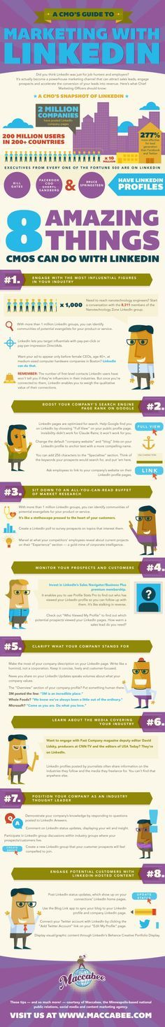 "SOCIAL MEDIA - ""8 Great Tips for Marketing Your Business with #LinkedIn 