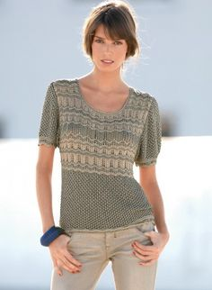 modele tricot pull femme manches courtes