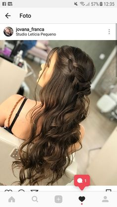 Pin by Adalia on Cabello y Belleza in 2020 Pin by Adalia on Cabello y Belleza in 2020 Homecoming Hairstyles, Wedding Hairstyles For Long Hair, Braids For Long Hair, Wedding Hair And Makeup, Bride Hairstyles, Pretty Hairstyles, Easy Hairstyles, Hair Makeup, Bridesmaid Hair