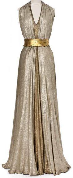 Madeleine vionnet robe de soir e ceinture 39 feuilles for Robes de mariage en argent