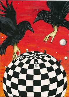 RYTA CHESS BOARD/RAVEN CROW