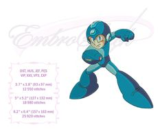 Embroidery Services, Embroidery Files, Machine Embroidery, Embroidery Designs, Evil Mad Scientist, Star Stitch, Video Game Characters, Mega Man, Kind Words